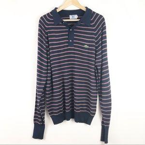 Vintage Izod Lacoste Long Sleeve StripePolo Shirt